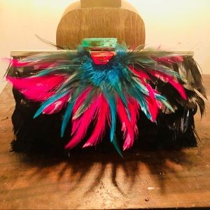 Feathered Clutch